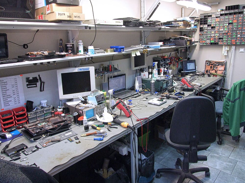stanowisko napraw komputerów w Nano-Serwis Wrocław